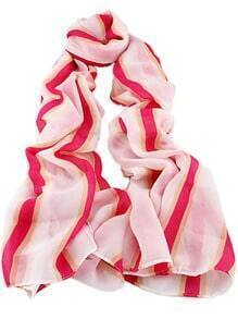 Red White Striped Scarves