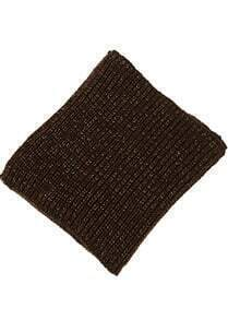 Brown Metallic Yoke Knit Scarves