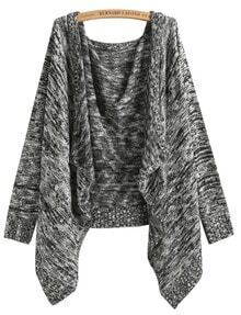 Black Long Sleeve Knit Loose Cardigan