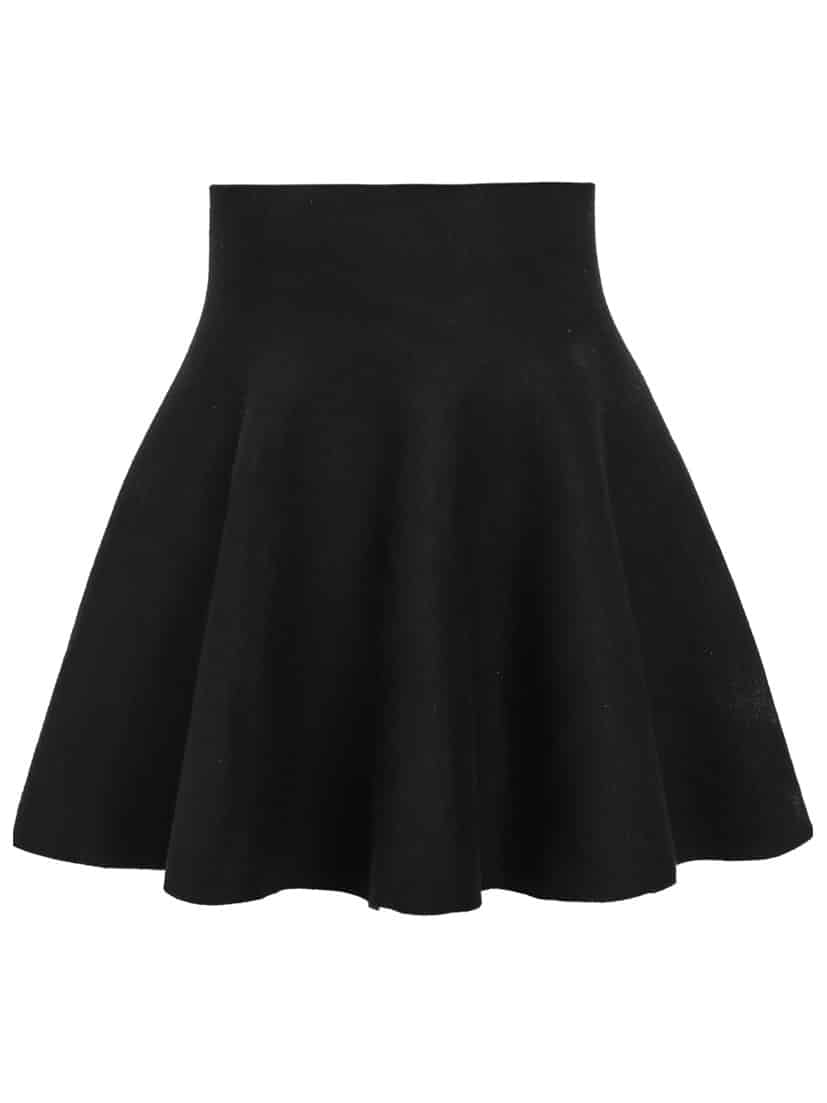 High Waist Flare Skirt -SheIn(Sheinside)