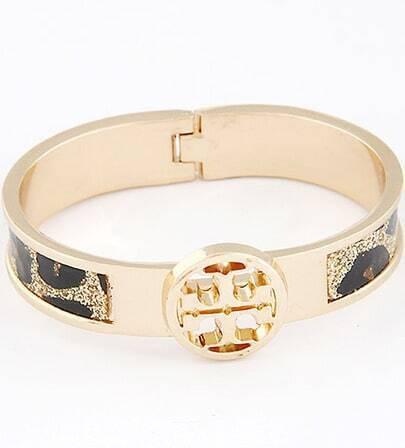 Black Glaze Gold Fashion Bracelet