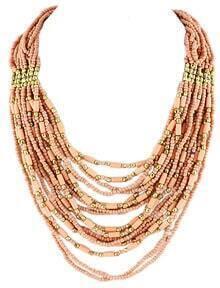 Orange Bead Multilayer Necklace