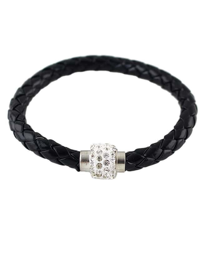 Black Weave Diamond Bracelet