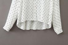 bluse mit anker muster wei german shein sheinside. Black Bedroom Furniture Sets. Home Design Ideas