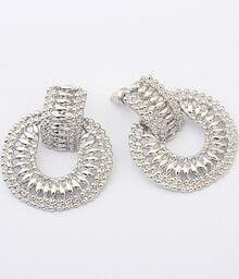 Fashion Silver Hollow Earrings
