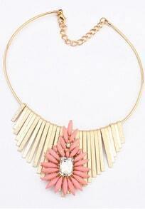 Red Gemstone Gold Tassel Necklace