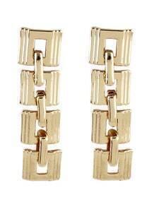Gold Geometric Chain Earrings