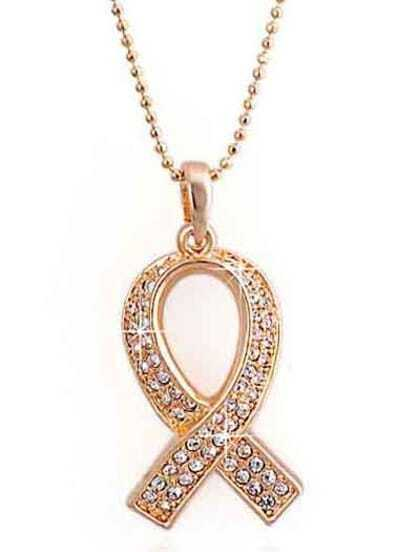Gold Diamond Bead Necklace