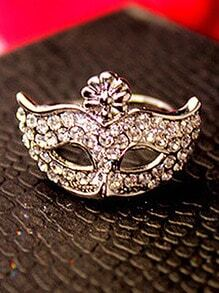 Gold Diamond Mask Ring