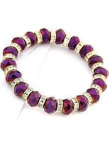 Fashion Purple Bead Bracelet