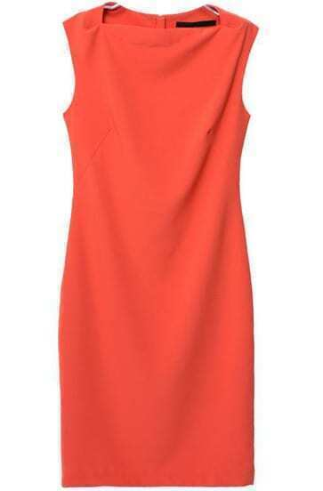 Red Sleeveless Slim Split Bodycon Dress