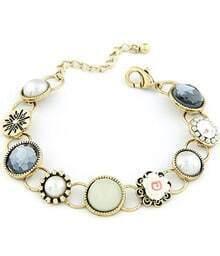 Bracelet en chaîne motif fleur
