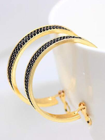 Fashion Gold Circle Earrings