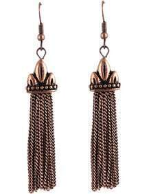 Retro Gold Chain Tassel Dangle Earrings
