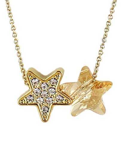 Gold Diamond Star Chain Necklace