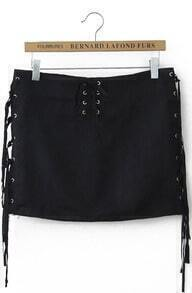 Black Bandage Tassel Skirt