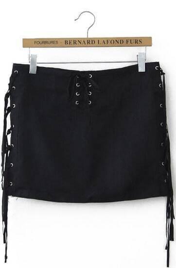 Black Bandage Tassel Skirt