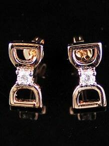 Gold Diamond Bow Stud Earrings