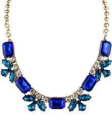 Blue Gemstone Gold Diamond Chain Necklace