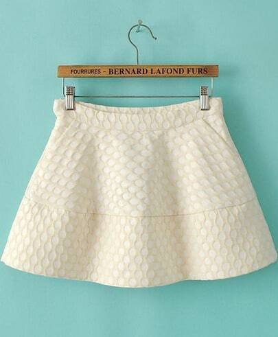 Apricot Polka Dot Pattern Skirt