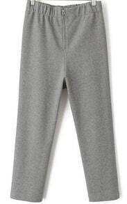 Grey Zipper Loose Pant