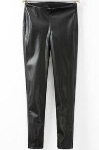 Black Skinny PU Leather Pant
