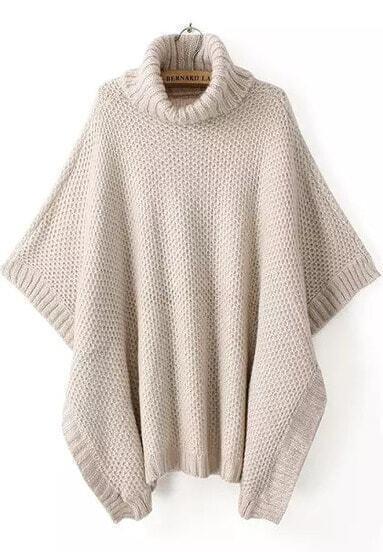 Абрикосовый свободный свитер с широким рукавом