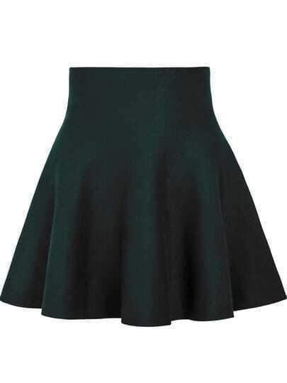Green High Waist Ruffle Skirt