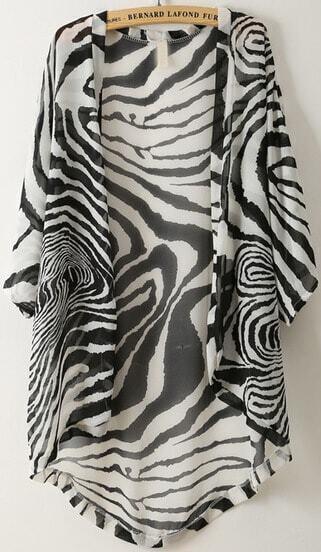kimono motif z bre en mousseline french shein sheinside. Black Bedroom Furniture Sets. Home Design Ideas