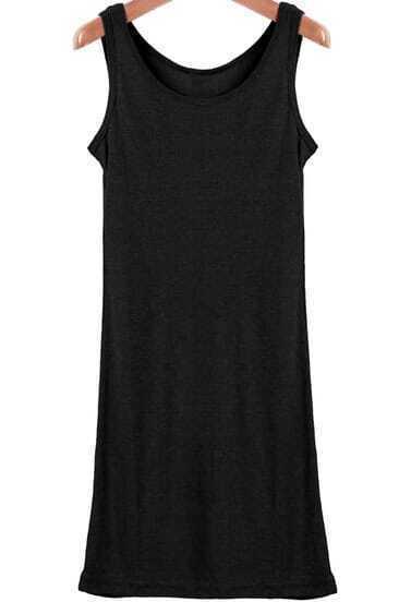 Black Sleeveless Long Vest