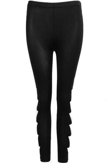 Black Slim Triangle Print Leggings