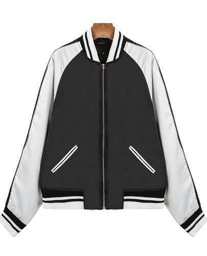 Black Long Sleeve Lip Pattern Jacket
