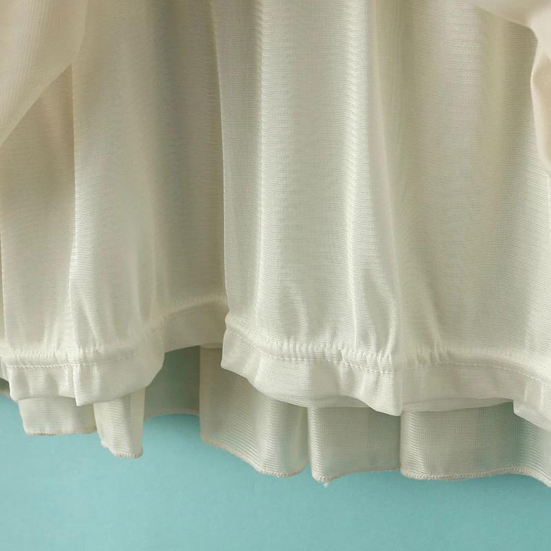 gestreiftes tunika mit gaze kleid schwarz wei german shein sheinside. Black Bedroom Furniture Sets. Home Design Ideas