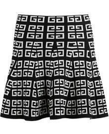 Black Vintage Geometric Print Knit Skirt