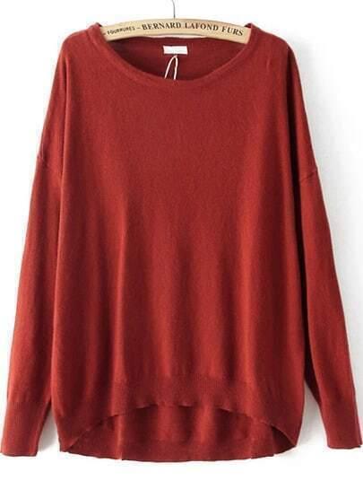 Jersey suelto manga larga-rojo