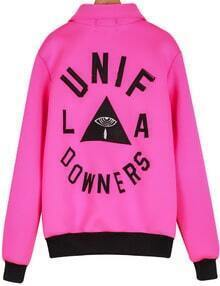Rose Red Long Sleeve UNIF Triangle Print Jacket