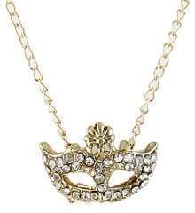 Gold Diamond Mask Chain Necklace