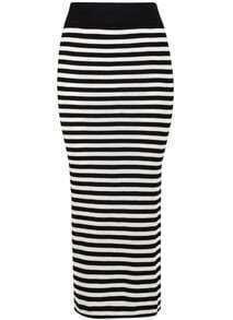 Falda rayas-blanco y negro