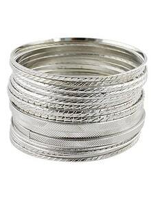 Fashion Silver Multilayers Bracelet