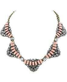 Pink Gemstone Gold Chain Necklace