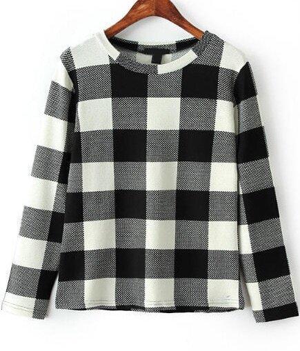 Karomuster Schwarz Weiß : bluse mit karomuster schwarz wei german shein sheinside ~ Watch28wear.com Haus und Dekorationen