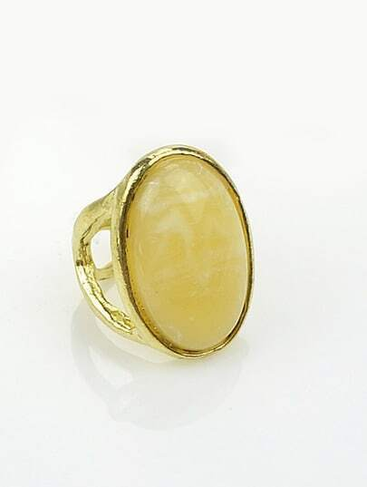 Apricot Oval Gemstone Gold Ring