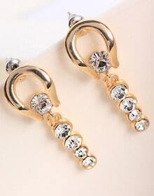 Gold Elegant Diamond Earrings