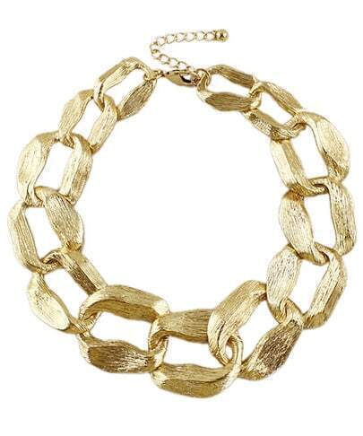 Gold Fashion Chain Necklace