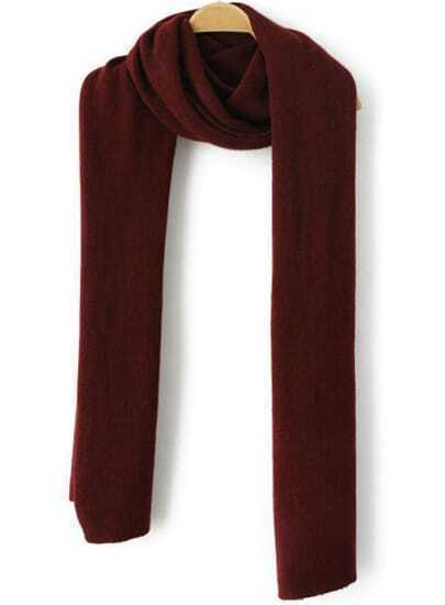 Wine Red Vintage Knit Scarf