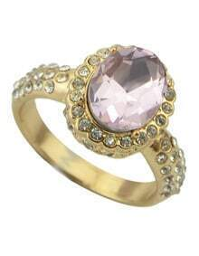 Pink Diamond Gold Fashion Ring