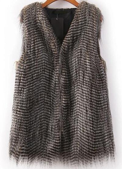 Grey Sleeveless Peacock Feathers Vest