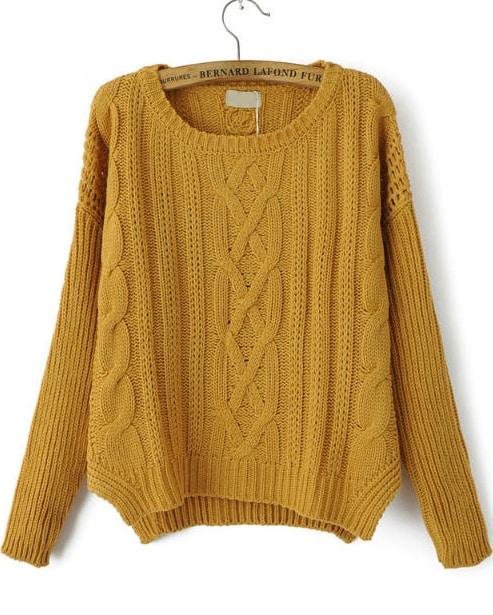 Пуловер С Косами С Доставкой