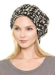 Black White Fashion Knit Hat