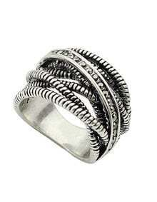 Silver Multilayer Spiral Ring
